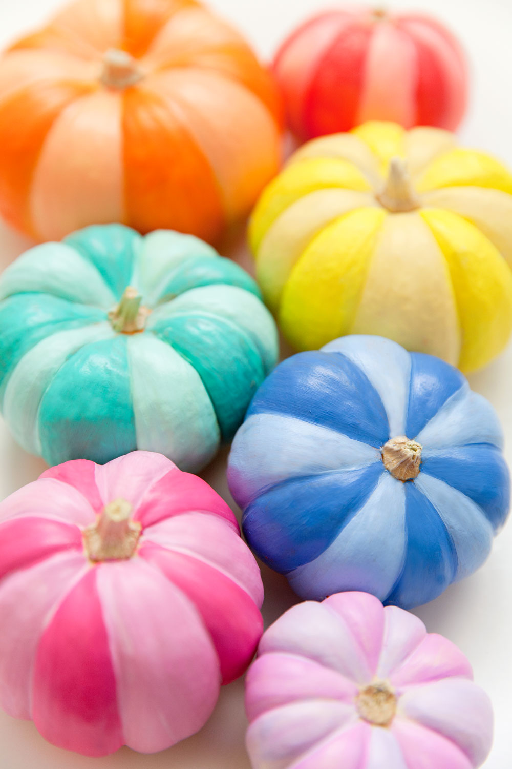 rainbow-painted-pumpkins
