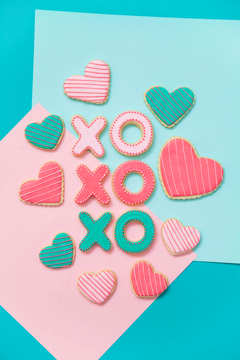 These Valentine's Day Sugar cookies are the cutest!! Give people hugs and kisses with cookies this holiday.