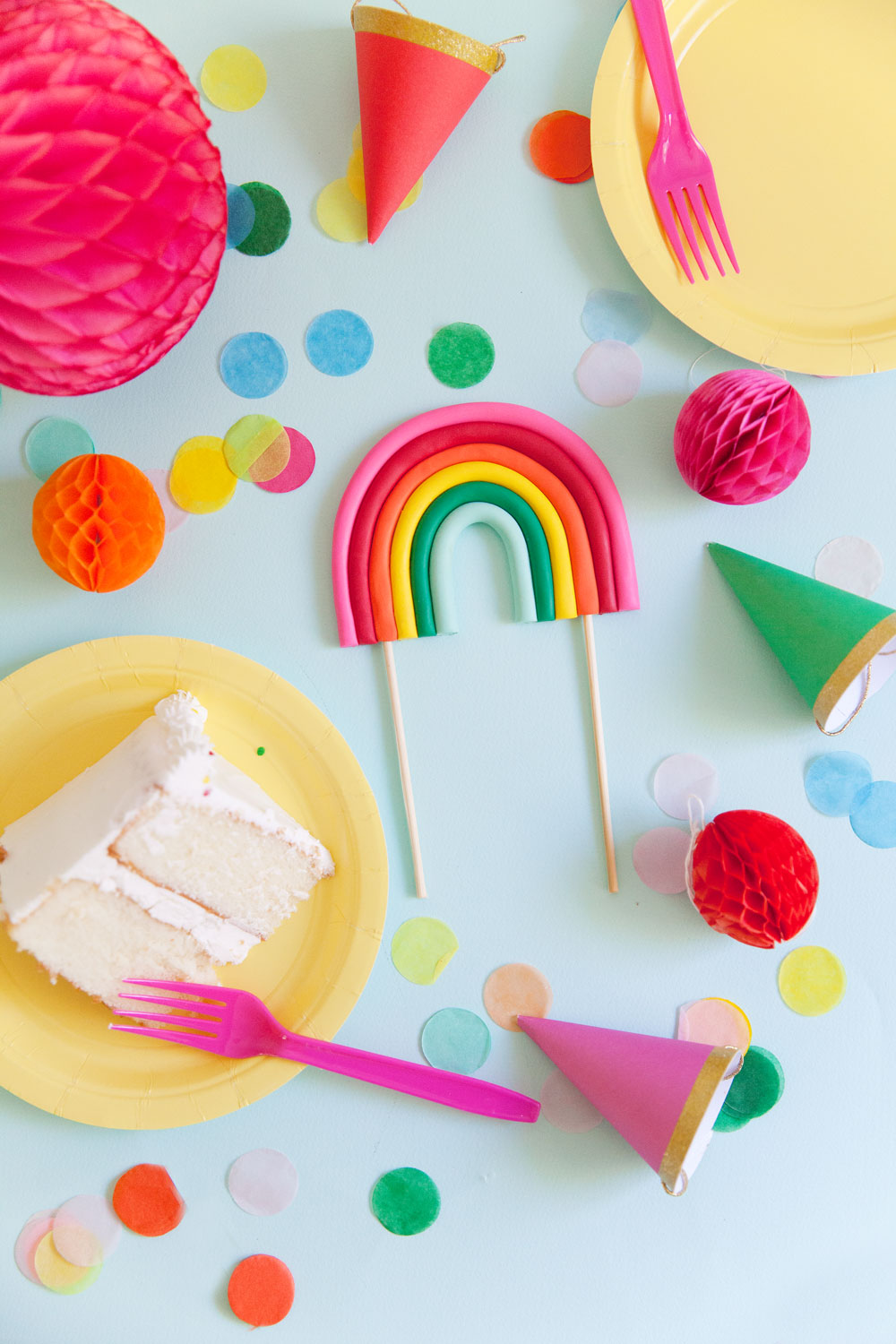 Diy Rainbow Cake Topper Tell Love And Party