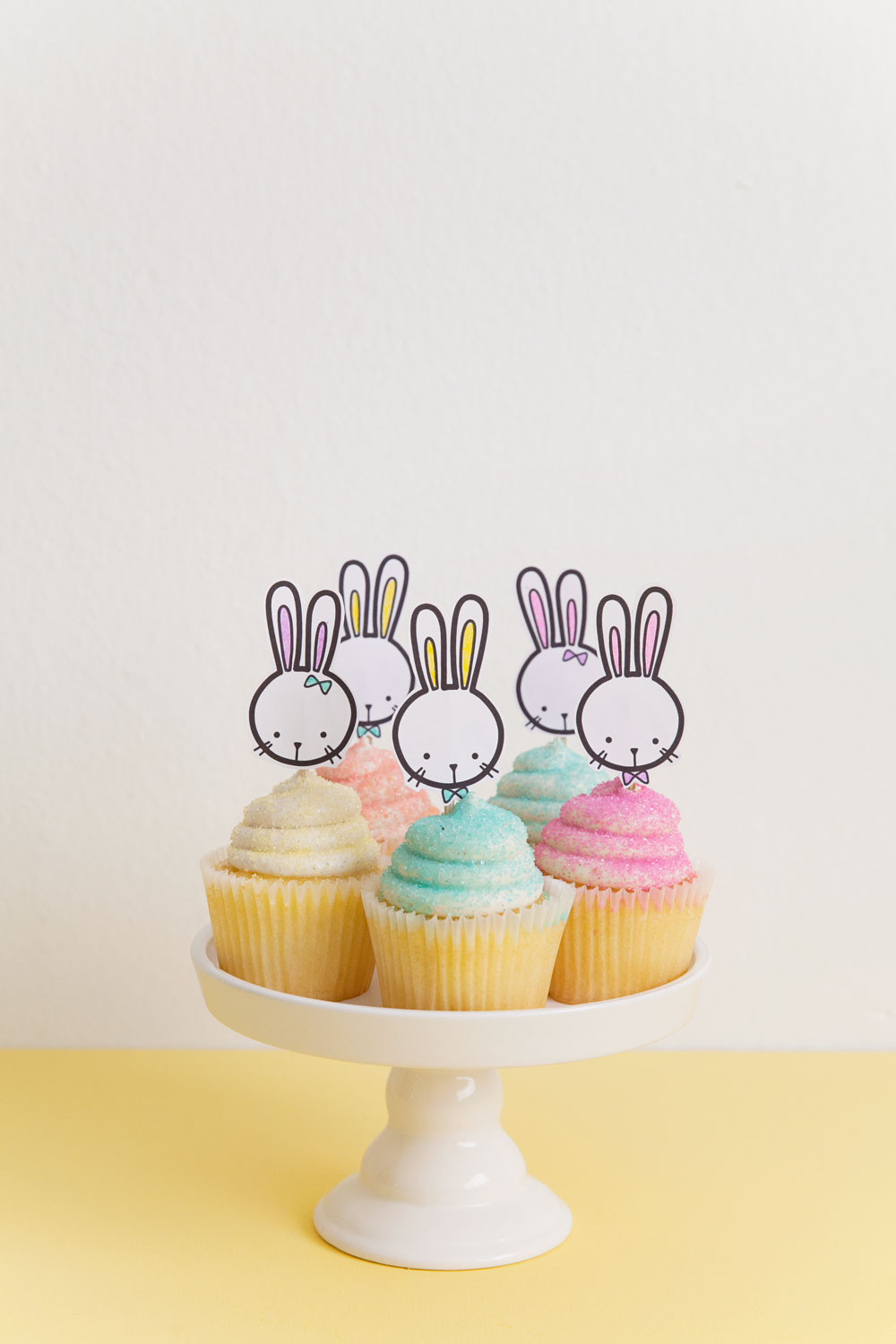 Free Printable Bunny Cupcake Topper Tell Love And Party