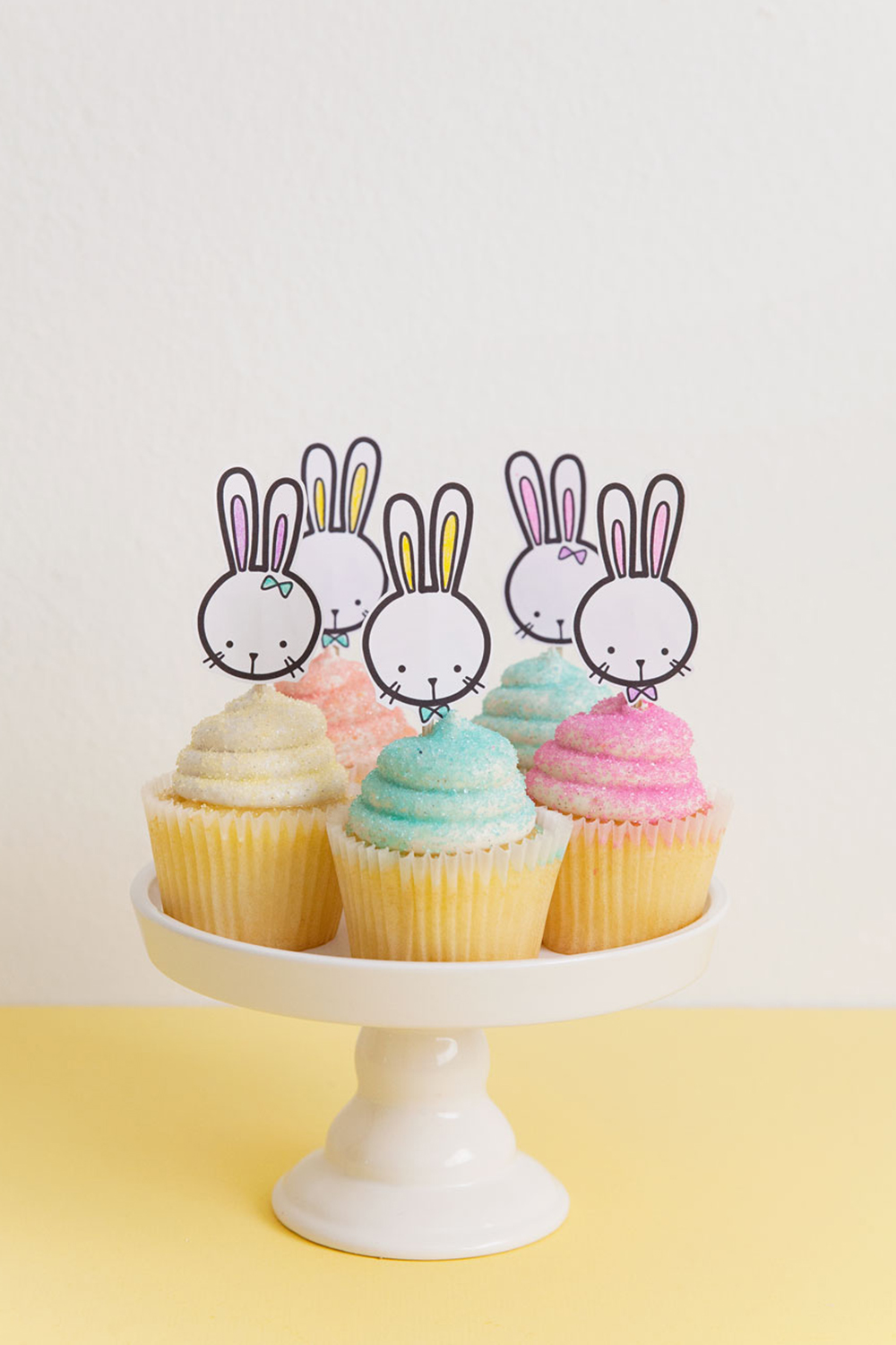 picture regarding Printable Bunny named Cost-free PRINTABLE BUNNY CUPCAKE TOPPER - Convey to Enjoy and Social gathering