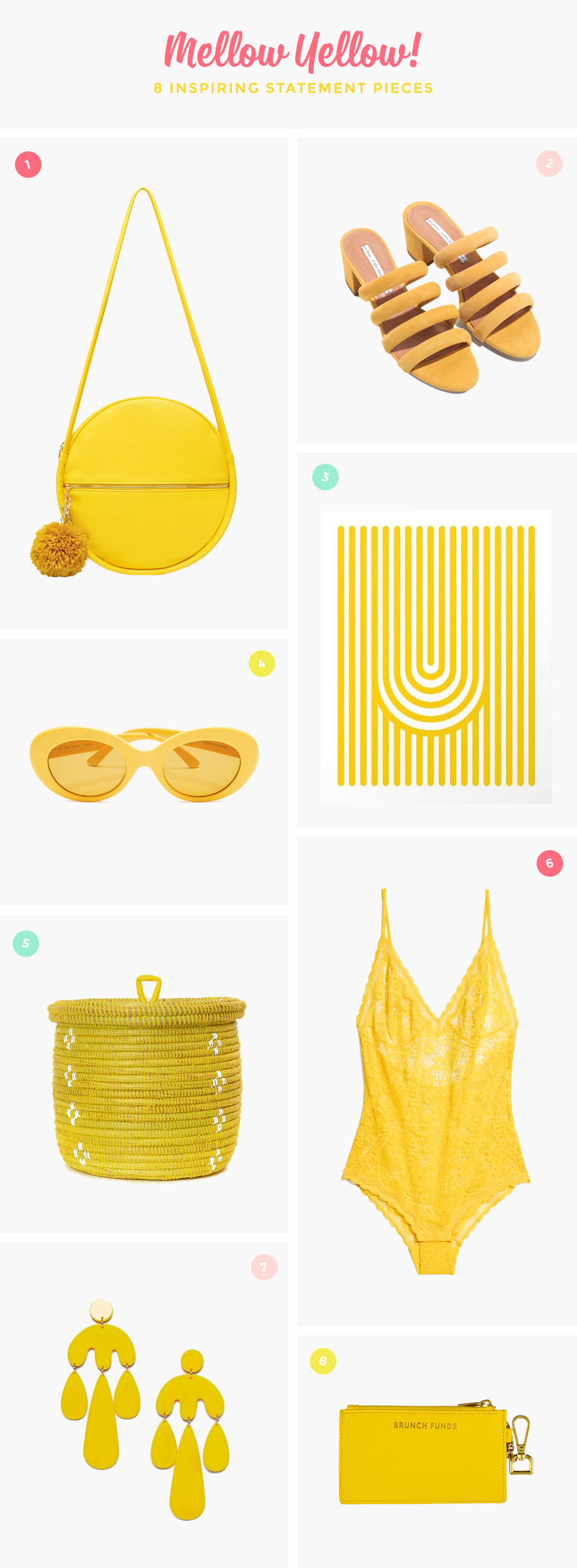 8 incredibly inspiring yellow statement pieces that will add color to your life #yellow