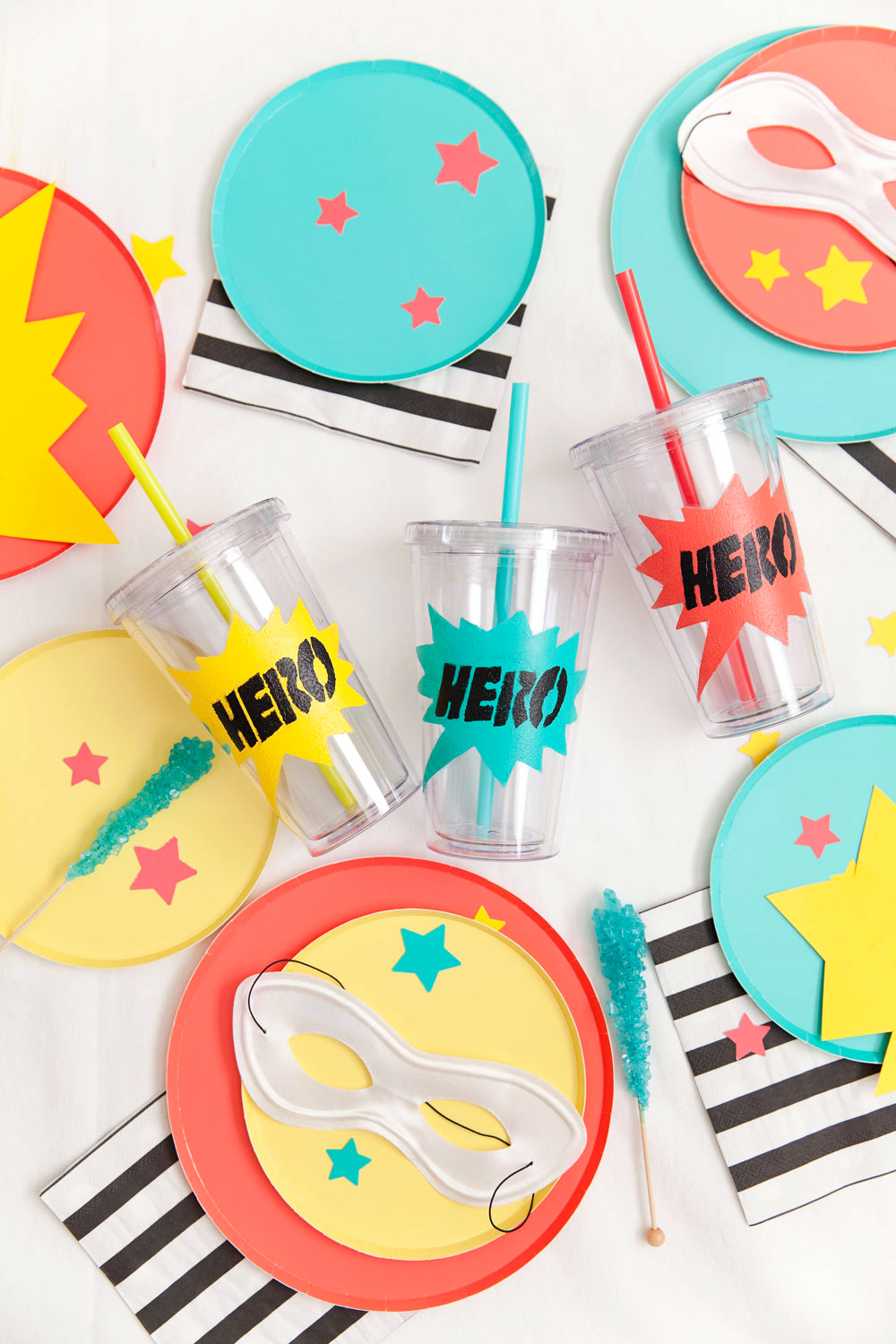 Learn how to make this fun, modern and non character themed DIY super hero themed party. -Tell Love and Party