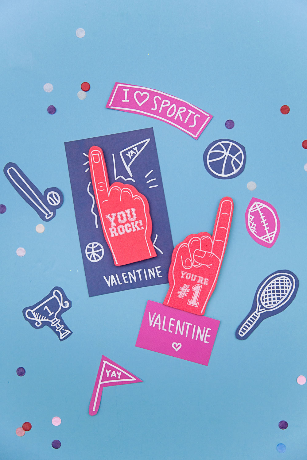 These DIY sporty Valentine's are perfect for that sport loving kid! Make them personal with their favorite team, sport or even logo.