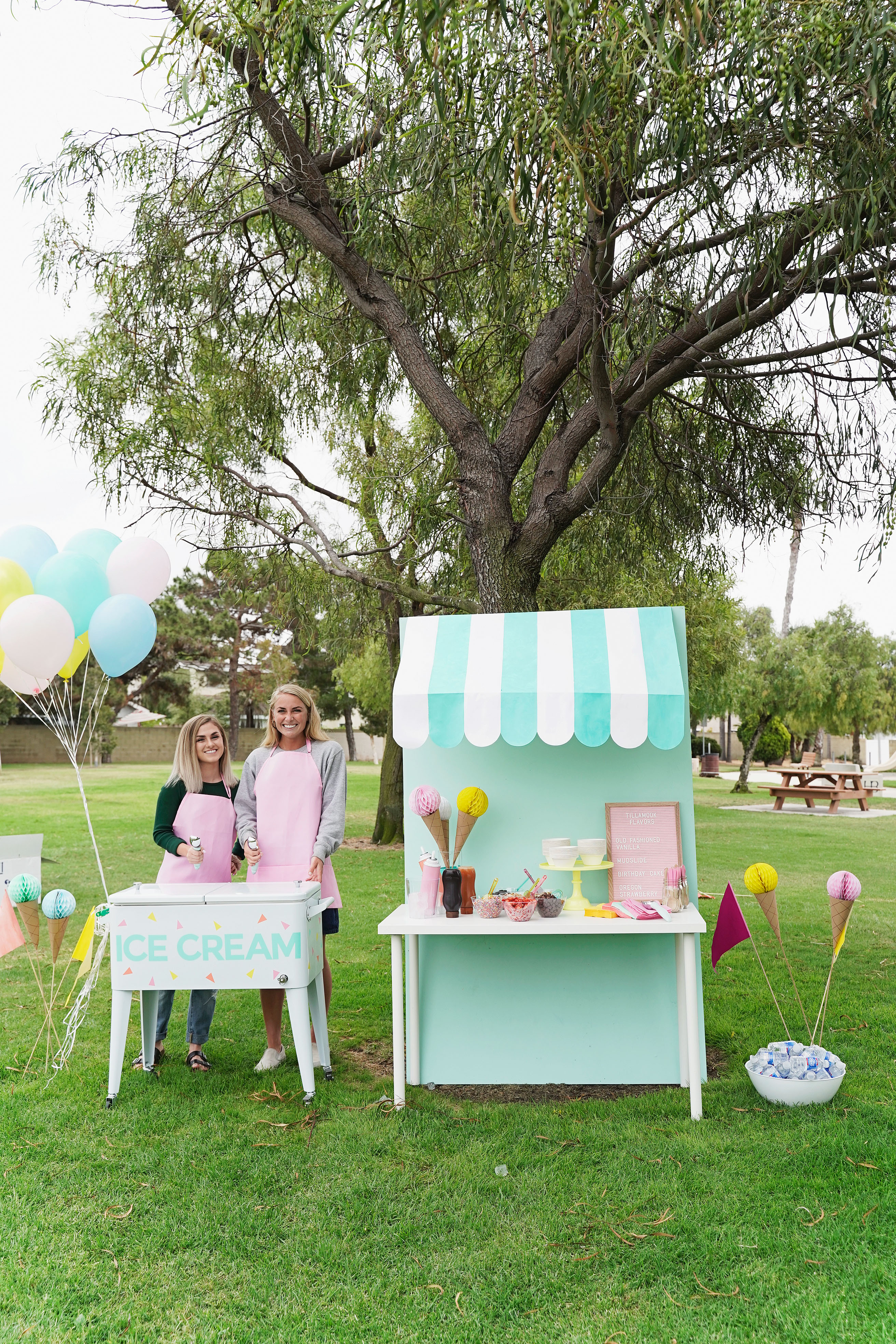 Learn how to throw the most amazing ice cream party EVER this summer! Complete with adorable decorations and the most delicious ice cream.