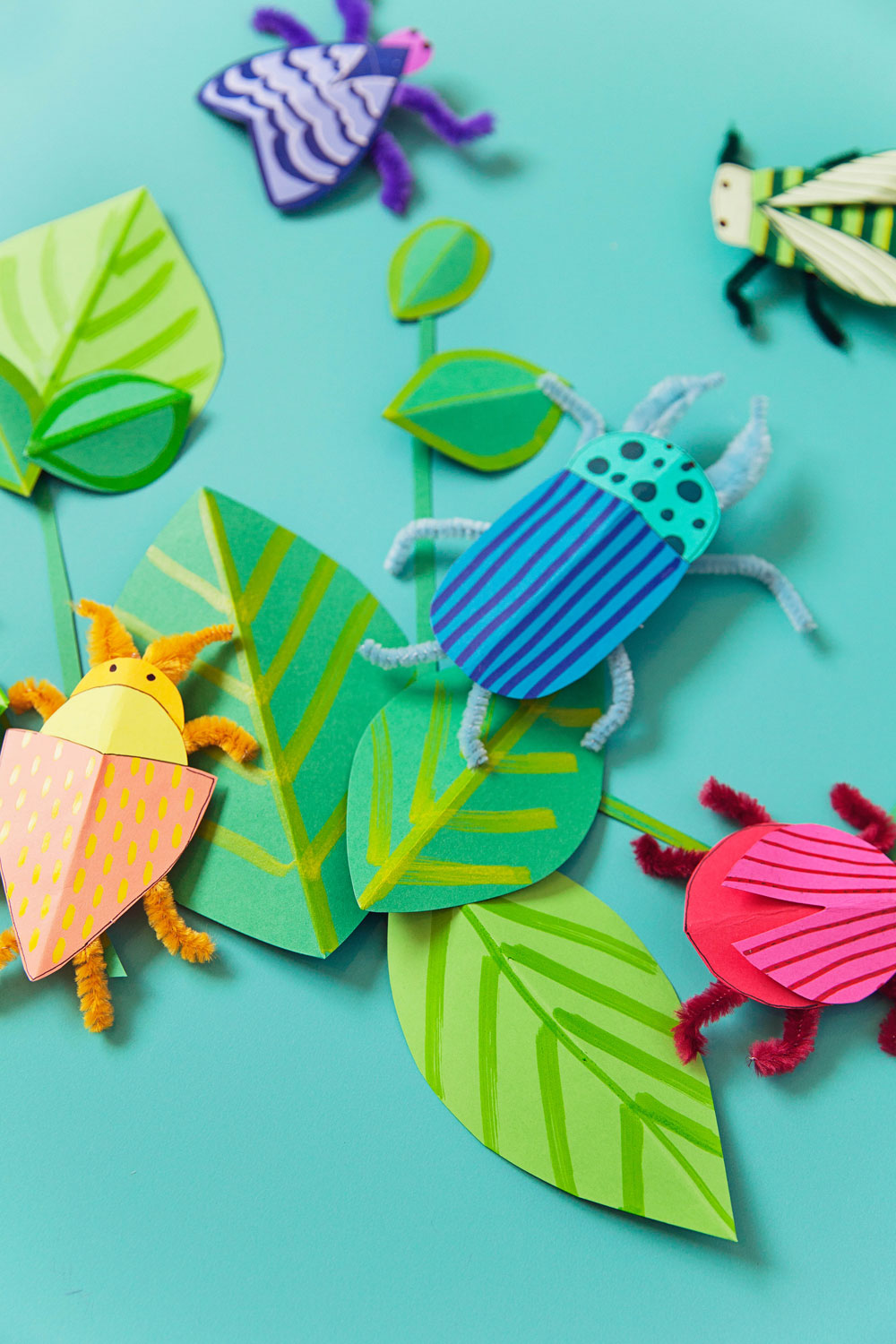These cute DIY paper bugs are so much fun and a great craft with your kids.